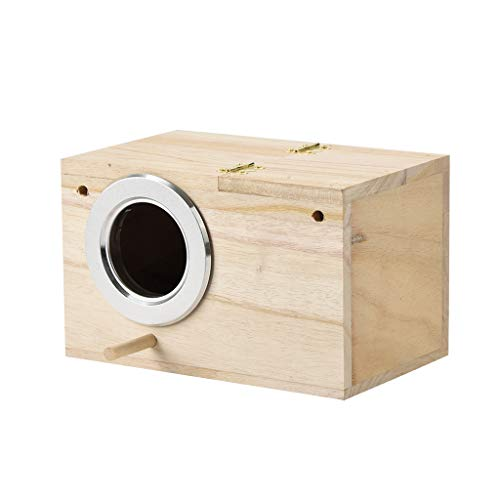 Parakeet Ne st Box Bird House Wood Breeding Box for Lovebirds Parrotlets Mating