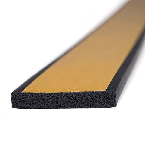 M M Seals D045 Joint de bordure en U Noir 21,5 mm de haut x 3,3 mm de large