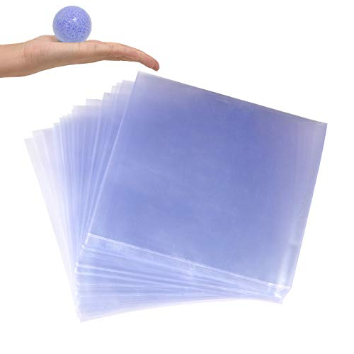 LazyMe Shrink Wrap Bags, 4 x 4 inch, PVC Heat Shrink Wrap for Handmade Soaps Bath Bombs, Art Crafts and DIY Crafts (200Pcs)