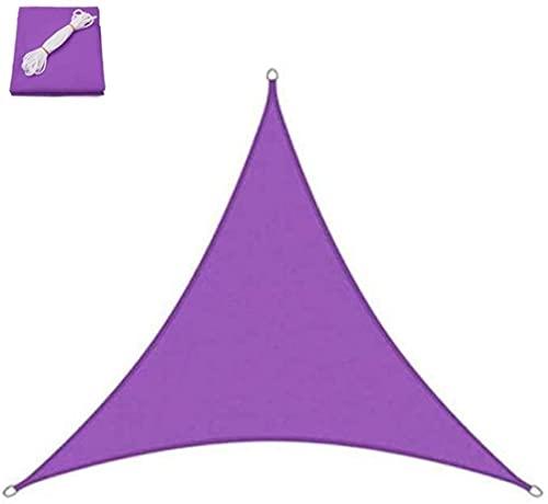 JLTX - Toldo de lona triangular impermeable y antiUV, para jardín, 4 tamaños (color: morado, tamaño: 5 x 5 x 5 m)