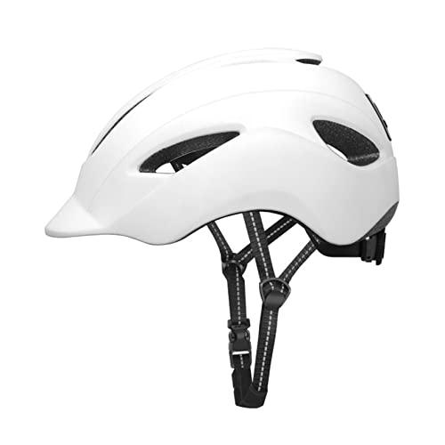 Casco da Bici con Luce di Sicurezza Casco da Bicicletta per Pendolari Urbani Casco da Ciclismo Leggero Caschi da Ciclismo Allround per Adulti Uomini/Donne(Color:Bianco)