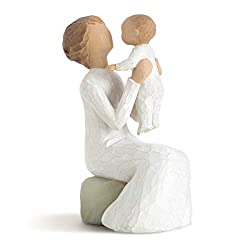 Sentiment: A unique love that transcends the years written on enclosure card 5h hand-painted resin figure. Gold chain accent; ready to display on a shelf, table or mantel; to clean, dust with soft brush or cloth A gift to celebrate new beginnings, ne...
