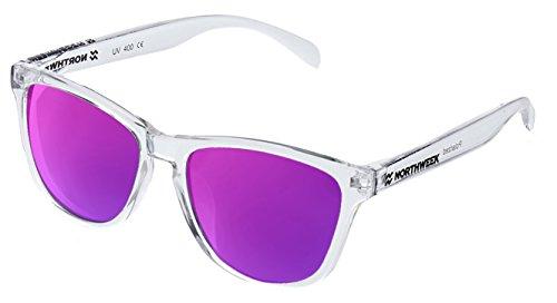 NORTHWEEK Gafas de sol ALL Bright white | lente purple polarizada