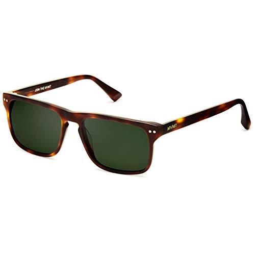 MVMT Reveler   Polarized Rectangular Men's Sunglasses   Matte Whiskey Tortoise   57 mm