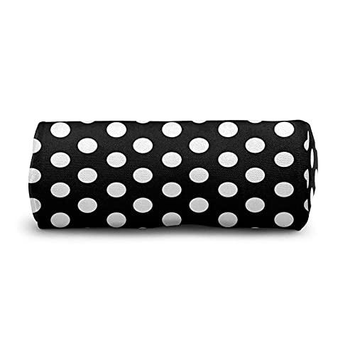 COSNUG Estuche de lápiz de lunares blanco negro para niñas bolsa de papelería escolar oficina titulares de lápiz cosméticos bolsa de maquillaje