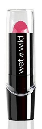 Wet N Wild Lippenstift – Silk Finish Lipstick / Pflegender Lippenstift mit Aloe Vera und Vitamine A und E, Pink Ice, 1 Stück, 3,6g