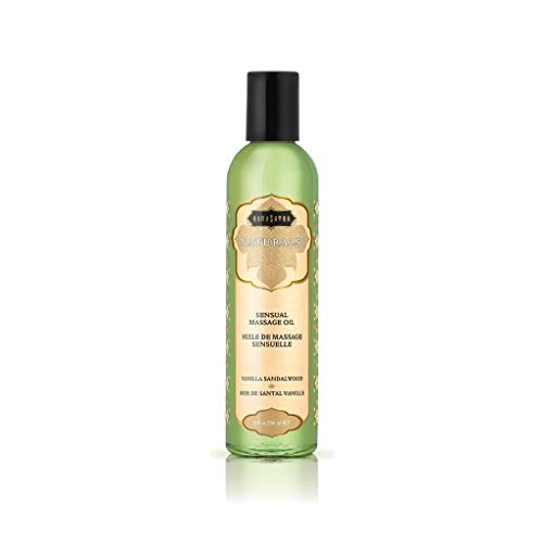 Kama Sutra Naturals Massage Oil Vanilla Sandalwood, 8 Fl Oz
