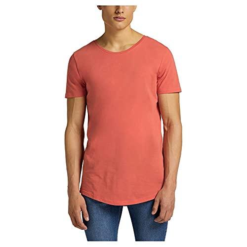 Lee Shaped tee Camiseta, Rojo Lavado, XXL para Hombre