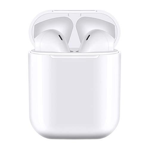 i12-Tws Cuffie Bluetooth 5.0 Cuffie Senza Fili Auricolari intrauricolari con Scatola di Ricarica Rapida 3D Stereo e IPX7 Impermeabile Cuffie Sportive TWS,per Vari dispositivi compatibili con Bluetooth