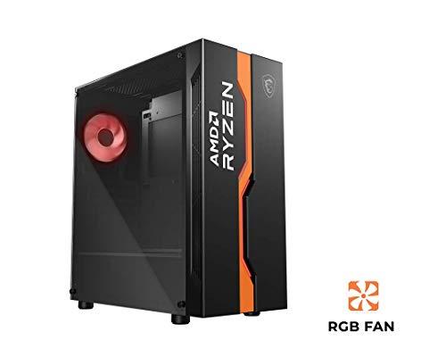 MSI MAG VAMPIRIC 011C AMD Edition Case ATX, ventola RGB (Mystic Light), supporta radiatori fino a 360mm, vetro temperato 4mm, filtro antipolvere magnetico, airflow ottimizzato, 1x USB 3.0,2x USB 2.0