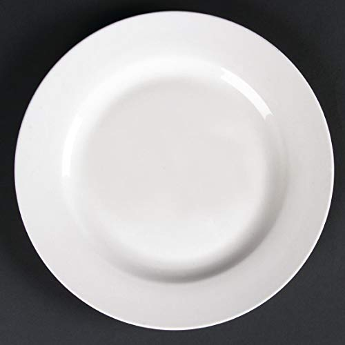 Lumina CD623 Lot de 6 assiettes rondes en porcelaine fine Blanc
