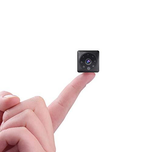 Zmsdt Cámara espía mini espía, cámaras de vigilancia de seguridad para el hogar inalámbricas de 1080p, pequeñas y pequeñas y pequeñas, cámara secreta de niñera encubierta con visión nocturna y detecci
