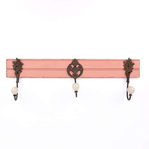 Mooi leven. Kapstok antiek roze 59 x 18 x 8 cm