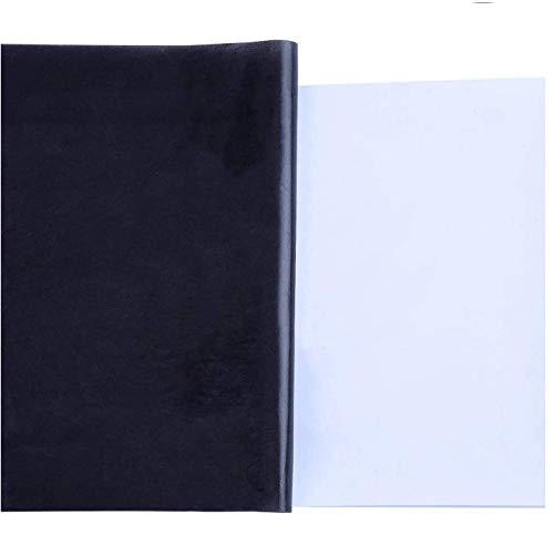LEBQ 30 Blatt Carbon Transferpapier Kohlepapier Graphitpapier für Holz, Papier, Segeltuch, 8,5 x 11 Zoll