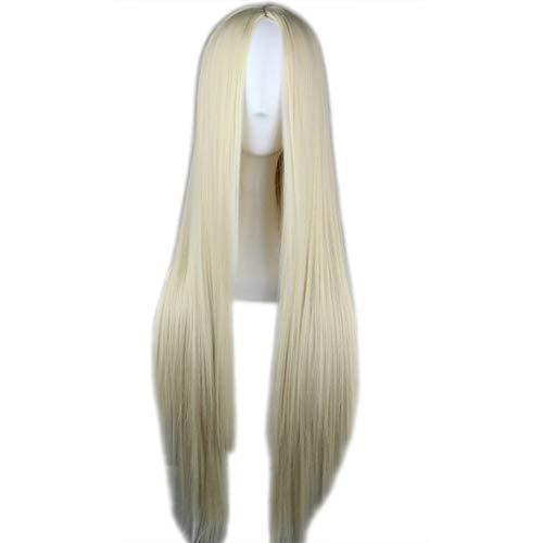 Funie Perücke, für Damen, einfarbig, mittellang, glatt, Cosplay-Haarteil