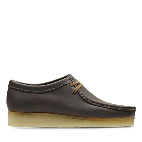 Clarks Originals Herren Wallabee Derbys, Braun (Beeswax Leather), 47 EU