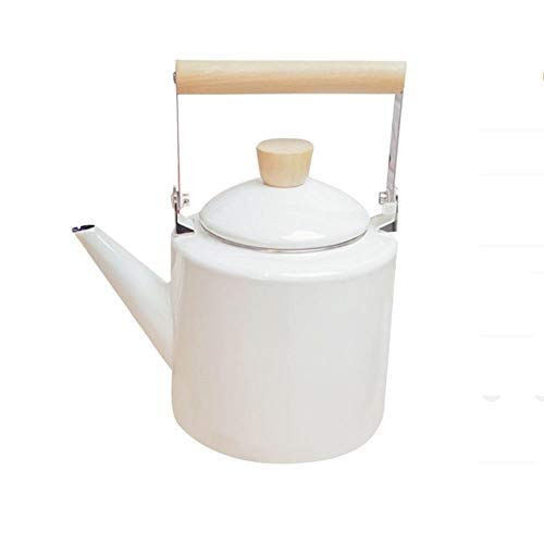 XJJZS Teteras esmaltadas Estilo hervidor de 2 litros para teteras halógenas para la mayoría de Estufas Kungfu (Color : B)