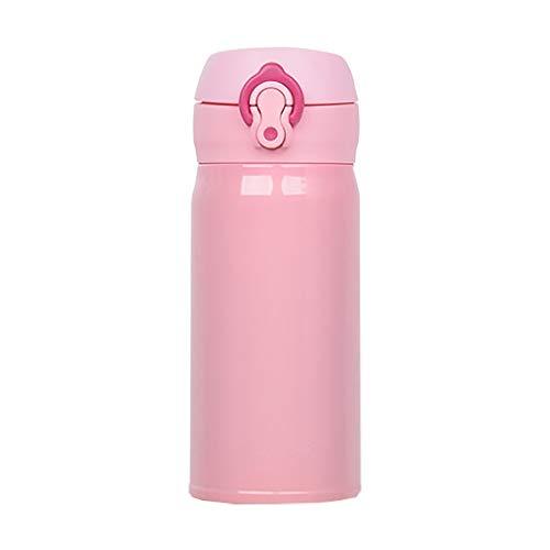 YANGXU Tazza Portatile Ultra- Leggera da 350 Ml, Disponibile in 4 Colori, capacità: 301 Ml - 400 Ml (Color : Pink)