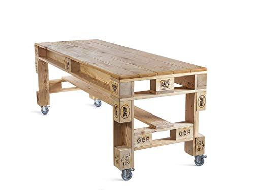 Palettenmöbel Tisch in Palettenoptik aus sibirischer Lärche. Veganes Möbel. Jedes Möbel ein Unikat und in Handarbeit in Deutschland hergestellt.