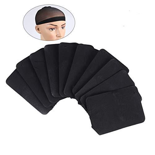 Beaupretty Dôme Casquettes Extensible Perruques Cap Nylon Perruque Casquette Élastique Cheveux Net Perruque Maille Perruque pour Femmes Hommes 6 Pcs (Noir)