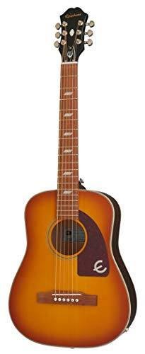 Epiphone Lil' Tex Travel Acoustic/Electric Outfit, Faded Cherry