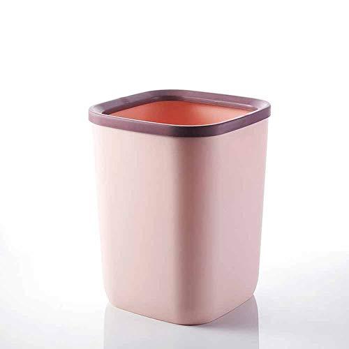 CHENC Lajt Papelera de cocina moderna ovalada de plástico pequeño, cubo de basura para baño, cocina, lavandería, oficina en casa, dormitorios (color : C)
