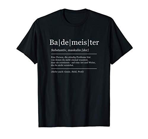 Herren Bademeister Lustig Definition Badewärter T-Shirt