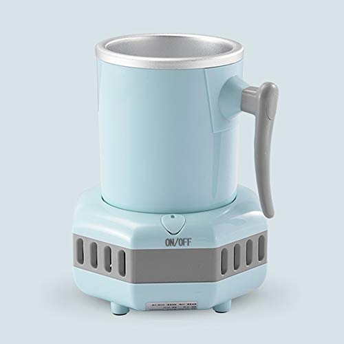 GYAM Gekühlte Tasse, Schnellkühler, Kühlschrank Mit Tischkühlung, Tragbares Waschbecken-Design, Geeignet Für Kaffee-Bier-Cola,Blau
