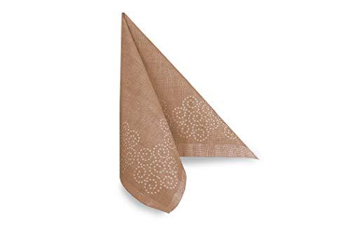 Hypafol Airlaid Motiv-Serviette Spunlace Rosalia braun | 100St. | unterschiedliche Farben & Motive | 40x40cm | passend zu Einrichtung & Dekoration | für Gastronomie & Zuhause | hochwertiges Material
