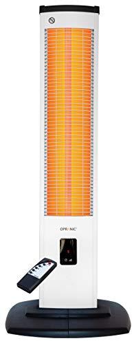 OPRANIC Infrarot Heizstrahler Terrasse Elektrisch mit Standfuß | 2000 Watt, IP34 | Infrarotstrahler Terrasse, Terassenheizstrahler, Terrassenheizstrahler | Außenbereich, Wintergarten, Aussen | Thor