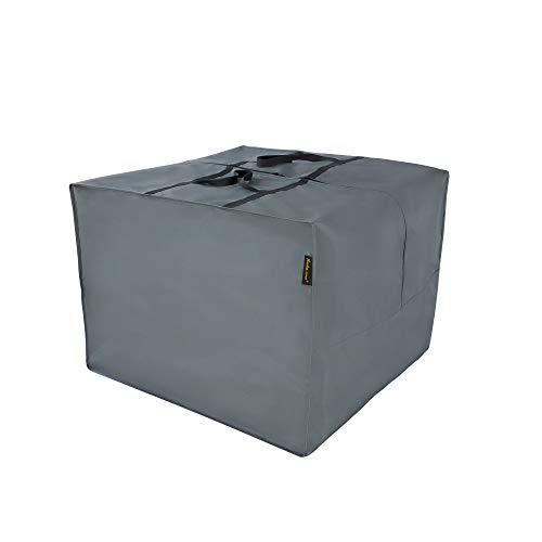 Hentex Cover Aufbewahrungstasche für Loungekissen,Schutzhülle gartenpolster Wasserabweisend, Premium TPU für Outdoor Garten Möbel,Grau 80 x 80 x 60 cm