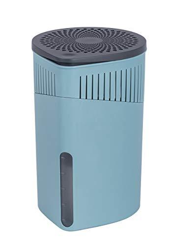 WENKO Raumentfeuchter Drop Türkis 1000 g - Luftentfeuchter Fassungsvermögen: 1.6 l, Kunststoff (ABS), 15 x 23 x 15 cm, Türkis