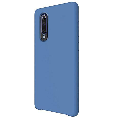 Funda para Xiaomi Mi 9/Mi 9 SE Teléfono Móvil Silicona Liquida Bumper Case y Flexible Scratchproof Ultra Slim Anti-Rasguño Protectora Caso (Blue, Xiaomi Mi 9)