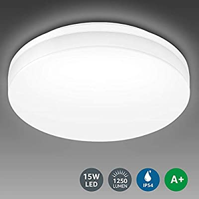LE 15W Waterproof Ceiling Light 1250lm, 100W Incandescent Replacement, 8.7 Inch Flush Mount