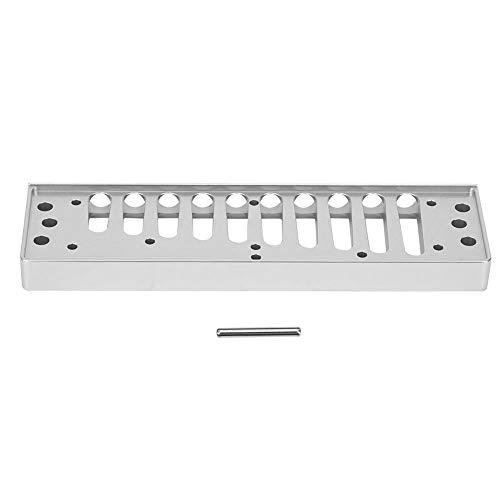 Peine de armónica, peine de armónica de metal Peine de arpa de blues de 10 orificios Pieza compatible con el accesorio de armónica de aleación de aluminio HOHNER SP20(plata)
