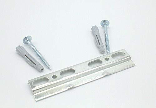 Wandschiene Montageschiene für Hängeschrank - Stabile Aufhängeschiene aus Eisen, verzinkt mit Schrauben & Dübel (125 mm)