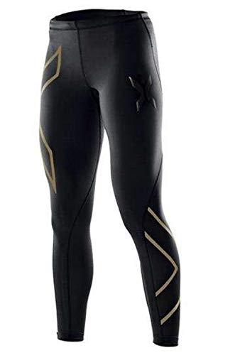 HPPLYoga Broeken Dames Sportkleding Bedrukte yoga-leggings Fitness Hardlooptights Sportbroeken Compressietights, goud met XXL
