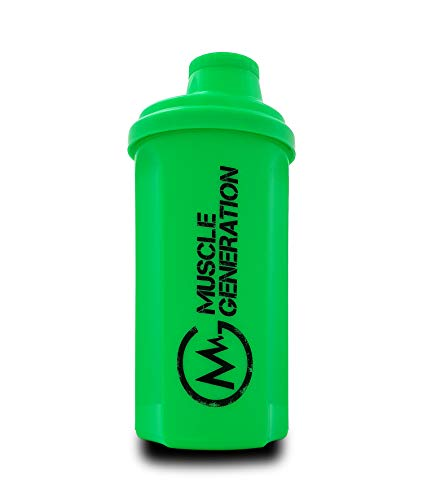 Musclegeneration Shaker 700ml (neon grün) | Protein Shaker | Fitness Shaker | Mix-Becher