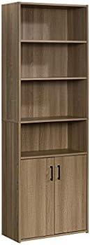 Sauder Beginnings Tall 4-Shelf Bookcase with 2 Doors