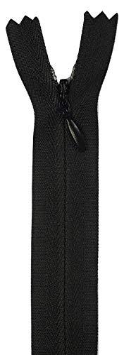 Jajasio 4 STK. Nahtfeiner Reißverschlüsse Nicht teilbar in 35 Farben schwarz 20cm Verdeckter Reißverschluss
