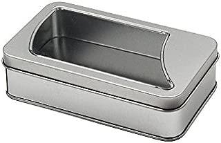 rectangular tin with window