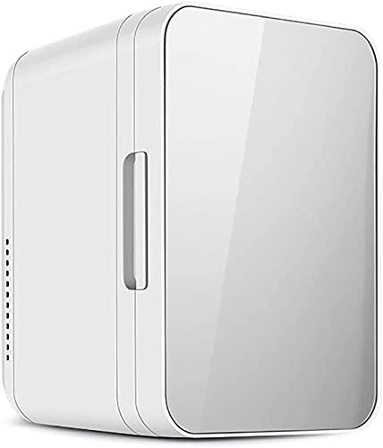 Refrigerador de mini-automóvil de 8L, refrigerador de calefacción y refrigeración de 12 v, refrigerador de refrigerador pequeño, automóvil portátil y refrigerador pequeño de doble propósito,Plata