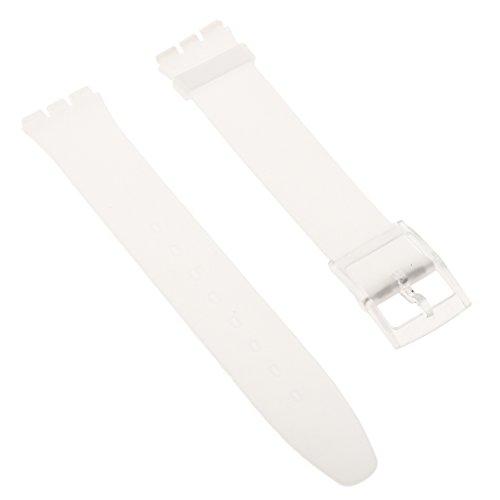 Generic 16mm Silikon Wasserdichter Armband Schnellverschluss - Cyan - klar