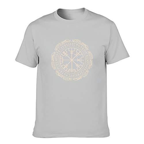 Viking - Maglietta da uomo in cotone con stampa colorata Argento XXXXL