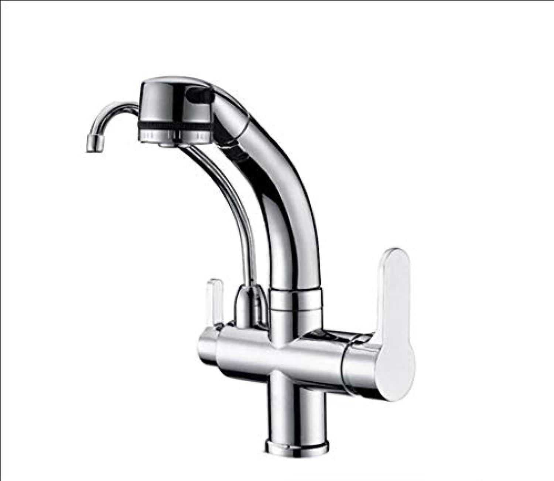 DYR Wasserhahn Wasserhahn Die Küche zieht Reine Wasserhhne Alle Bronze Multifunktions-warmes und kaltes Wasser Reine Wasserhahn (Farbe  A)