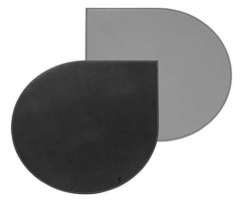 Freeform Tischset, Kunstleder, Kunstleder, Grau, 44 x 40 cm