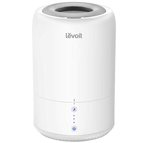Price comparison product image LEVOIT Humidifiers for Bedroom,  Cool Mist Humidifier for Babies,  Top Fill Ultrasonic Air Humidifier,  Essential Oil Diffuser with Smart Sleep Mode,  Whisper Quiet Operation,  Auto Shut Off (1.8L / 0.48Gal)