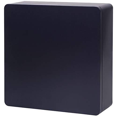 Tianhui Food Storage Containers Tin Box Kitchen Pantry Organization Metal Box, Mysterious Black, Square