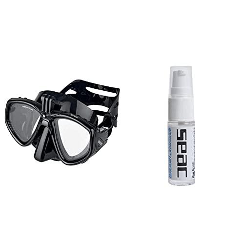 SEAC One PRO Maschera da Subacquea con Attacco Action Cam + Biogel Anti appannante
