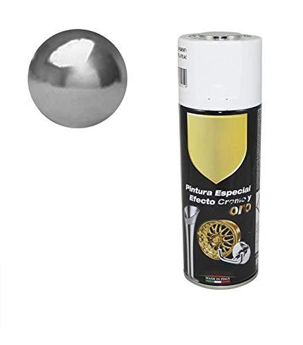 Pintura Spray Especial Efecto Plata Cromado 400 Ml